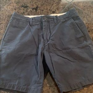 H&M navy cotton chino men's shorts size 31